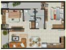 Cải tạo cho căn hộ 63,5m² có thêm 1 phòng ngủ
