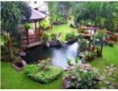 Trang trí sân vườn bằng thác nước và hồ nhỏ