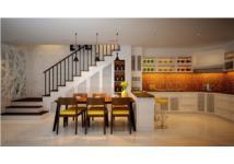 Phòng bếp đẹp với đèn chiếu sáng