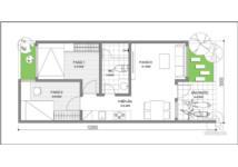 Thiết kế nhà cấp 4 sang trọng, diện tích 60m2 cho cặp vợ chồng trẻ