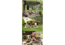 Trang trí sân vườn đẹp với những khối bê tông nhỏ