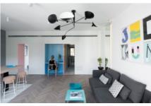 Làm mới căn hộ nhỏ bằng màu sắc và nội thất